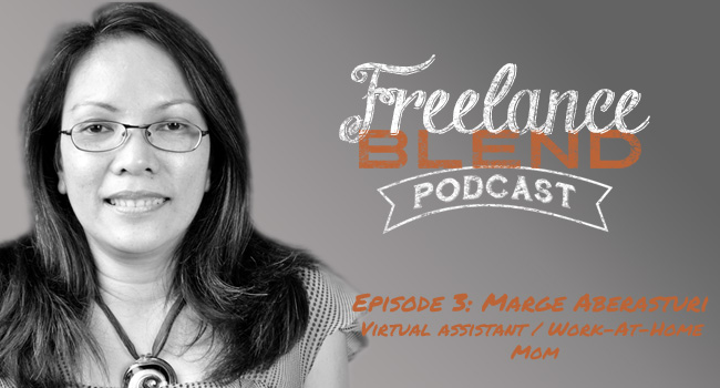 Marge Aberasturi for Freelance Blend Podcast