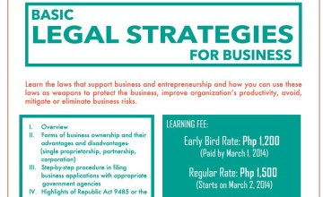 "50% Discount for Freelance Blend Members at the ""Basic Legal Strategies for Business"" Workshop on March 20, 2014"