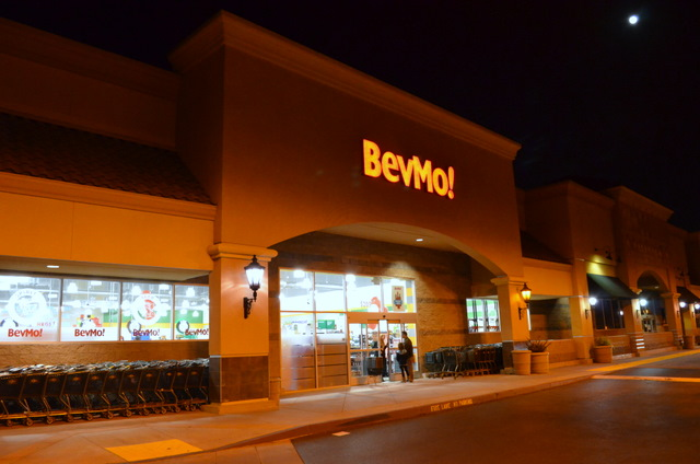 The storefront of the new BevMo.