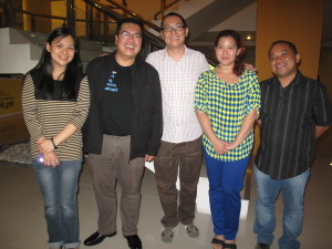 "Ginger Arboleda, Fitz Villafuerte, Me, Nica Mandigma and Dandy Victa during the ""Freelancing for Beginners Workshop."""