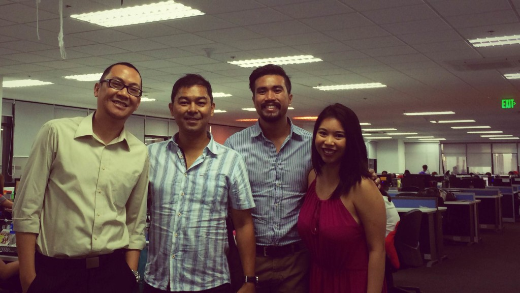 From left to right: Marv de Leon, Jojy Azurin, Evan Tan and Jieneb Kho.