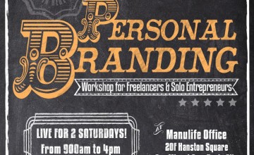 "[New Workshop]: ""Personal Branding Workshop for Freelancers and Solo Entrepreneurs"" on November 7 & 14"