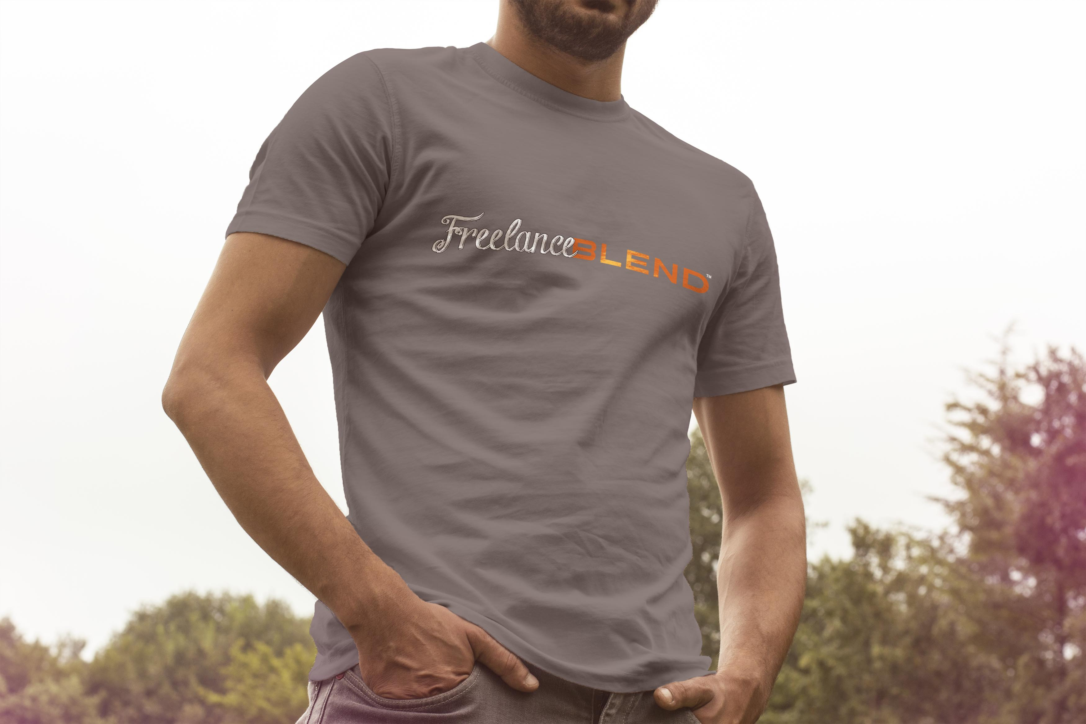 Gray-FreelanceBlend-T-Shirt