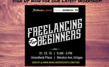Announcement: Venue for the Freelancing for Beginners Workshop