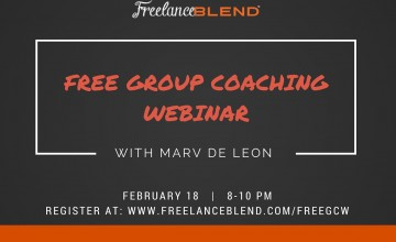 Free Group Coaching Webinar with Marv de Leon on­ Feb 18, 2016 (8pm)