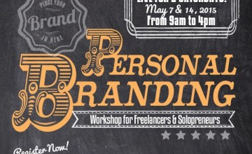 [New Workshop]: Personal Branding Workshop for Freelancers and Solopreneurs on May 7 and 14