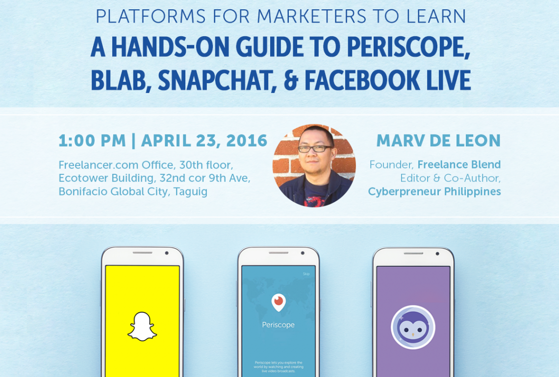 Talino Talks: New & Awesome Social Media Platforms for Marketers to Learn with Marv de Leon