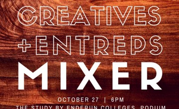"[New Meetup} ""Creatives + Entreps"" Mixer on October 27"