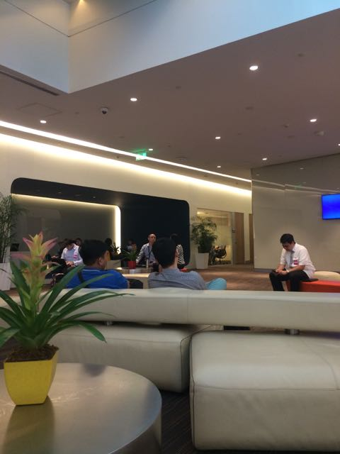 The lounge for Globe visitors, partners and customers.