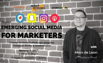 [New Workshop]: Emerging Social Media for Marketers (A Hands-On Guide To Periscope, Snapchat, Instagram Stories & Facebook Live)