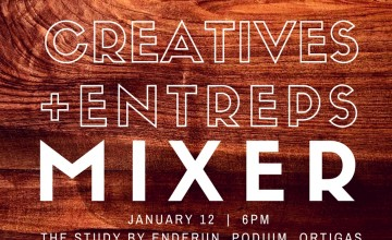 "[New Meetup] ""Creatives + Entreps"" Mixer on January 12"