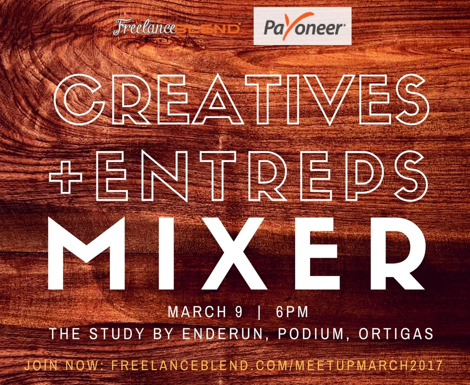 """[New Meetup] """"Creatives + Entreps"""" Mixer on March 9, 2017"""