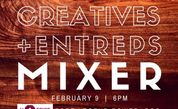 "[New Meetup] ""Creatives + Entreps"" Mixer on February 9, 2017"