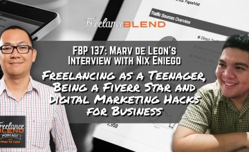 FBP 137: Nix Eniego – Freelancing as a Teenager, Being a Fiverr Star and Digital Marketing Hacks for Business