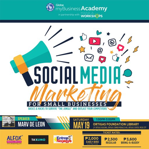 "[New Workshop:] Social Media Marketing for Small Business – (Basics & Hacks to Survive ""The Jungle"" and Outlast Your Competitors)"