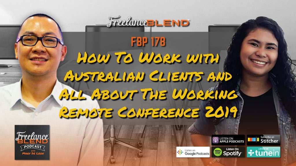 Freelance Blend Podcast poster - Marv de Leon with Eunice Punzalan of PayStaff and Working Remote Conference